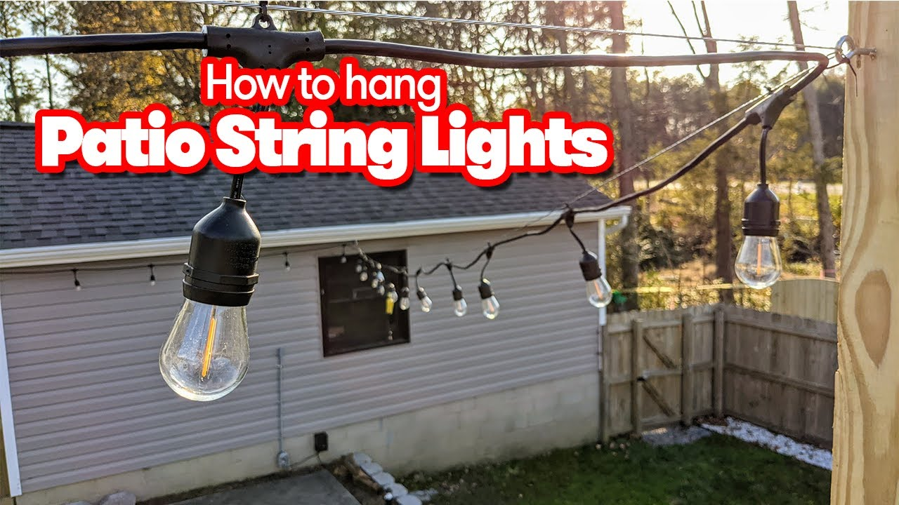 How to hang string lights for your patio