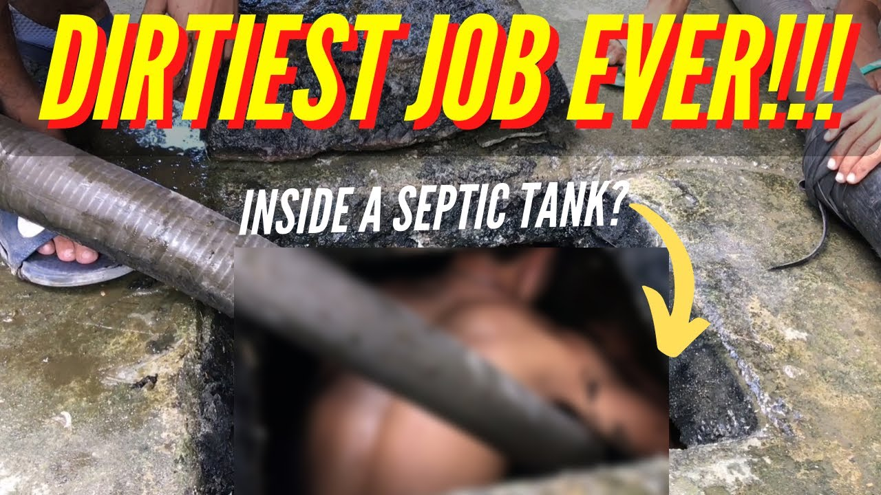 Septic Tank Maintenance Service | Pumping And Cleaning (Man Goes Inside The Septic Tank!)