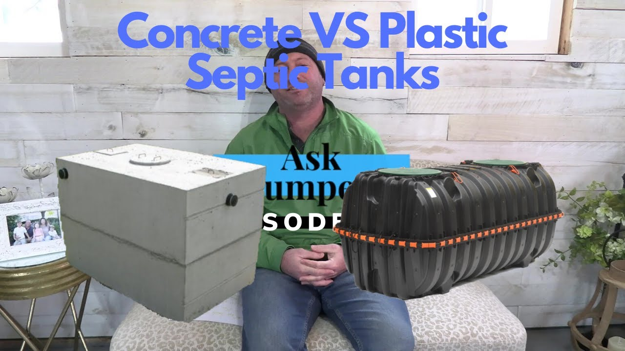 The difference between Concrete and Plastic Septic Tanks | #AskThePumperdude